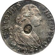 UK 1/2 Dollar George III 1772-1788 (1797) CM Date: ND(1797) KM# 622.1 CAROLUS IIII∙DEI∙G∙ 1794∙ coin obverse