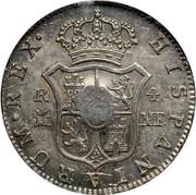 UK 1/2 Dollar George III 1772-1788 (1797) CM Date: ND(1797) KM# 622.1 HISPANIARUM∙REX∙ R M 4 MF. coin reverse