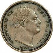 UK 1/2 Farthing William IV 1837 KM# 724 GULIELMUS IIII DEI GRATIA coin obverse