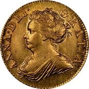 UK 1/2 Guinea Anne 1710 KM# 527 ANNA ∙ DEI ∙ GRATIA ∙ coin obverse