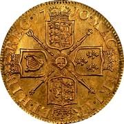 UK 1/2 Guinea Anne 1710 KM# 527 MAG BRI ∙ FR ET ∙ HIB REG ∙ coin reverse