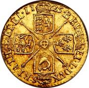 UK 1/2 Guinea George I 1725 KM# 560 BRVN ET ∙ L ∙ DVX S ∙ R ∙ I ∙ A ∙ TH ET ∙ EL ∙ coin reverse