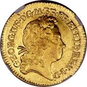 UK 1/2 Guinea George I Elephant and castle below head 1718 KM# 541.2 GEORGIVS∙D:G∙M∙BR∙FR:ET:HIB∙REX∙F∙D∙ coin obverse