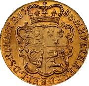 UK 1/2 Guinea George II 1756 KM# 587 F ∙ D ∙ B ∙ ET ∙ L ∙ D ∙ S ∙ R ∙ I ∙ A ∙ T ∙ ET ∙ E ∙ M ∙ B ∙ F ∙ ET ∙ H ∙ REX ∙ coin reverse