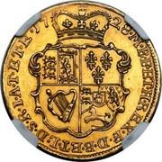 UK 1/2 Guinea (George II E.I.C. below head) KM# 565.2 *YEAR*∙M∙B∙F∙ET∙H∙REX∙F∙D∙B∙ET∙L∙D∙S∙R∙I∙A∙T∙ET∙E∙ coin reverse