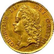 UK 1/2 Guinea George II (Half Guinea) 1740 KM# 580.1 GEORGIUS ∙ II ∙ DEI ∙ GRATIA ∙ coin obverse