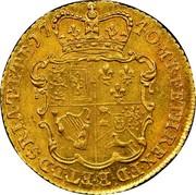 UK 1/2 Guinea George II (Half Guinea) 1740 KM# 580.1 F ∙ D ∙ B ∙ ET ∙ L ∙ D ∙ S ∙ R ∙ I ∙ A ∙ T ∙ ET ∙ E ∙ M ∙ B ∙ F ∙ ET ∙ H ∙ REX ∙ coin reverse