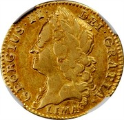 UK 1/2 Guinea George II (Half Guinea) 1745 KM# 580.2 GEORGIUS ∙ II ∙ DEI ∙ GRATIA ∙ coin obverse