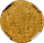 UK 1/2 Guinea George II (Half Guinea) 1745 KM# 580.2 F ∙ D ∙ B ∙ ET ∙ L ∙ D ∙ S ∙ R ∙ I ∙ A ∙ T ∙ ET ∙ E ∙ M ∙ B ∙ F ∙ ET ∙ H ∙ REX ∙ coin reverse