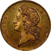 UK 1/2 Guinea George II no E.I.C. below head 1728 KM# 565.1 GEORGIVS ∙ II ∙ DEI ∙ GRATIA coin obverse