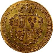 UK 1/2 Guinea George II no E.I.C. below head 1728 KM# 565.1 F ∙ D ∙ B ∙ ET ∙ L ∙ D ∙ S ∙ R ∙ I ∙ A ∙ T ∙ ET ∙ E ∙ M ∙ B ∙ F ∙ ET ∙ H ∙ REX ∙ coin reverse