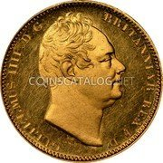 UK 1/2 Sovereign 1831 Proof KM# 716 British Royal Mint Sovereign Coins coin obverse