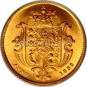 UK 1/2 Sovereign 1835 KM# 722 British Royal Mint Sovereign Coins coin reverse