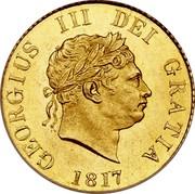 UK 1/2 Sovereign George III 1817 KM# 673 GEORGIUS III DEI GRATIA coin obverse