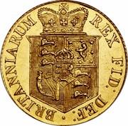 UK 1/2 Sovereign George III 1817 KM# 673 BRITANNIARUM REX FID: DEF: coin reverse
