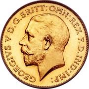 UK 1/2 Sovereign George V 1911 KM# 819 GEORGIVS V D.G.BRITT:OMN:REX F.D.IND:IMP: coin obverse