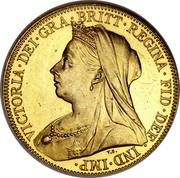 UK 1/2 Sovereign Victoria 1893 KM# 784 VICTORIA ∙ DEI ∙ GRA ∙ BRITT ∙ REGINA ∙ FID ∙ DEF ∙ IND ∙ IMP ∙ coin obverse