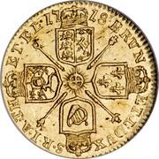 UK 1/4 Guinea George I 1718 KM# 555 BRVN ET∙L∙DVX S∙I∙R∙A∙TH ET∙EL ∙17 18∙ coin reverse
