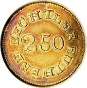 USA $2.50 18XX KM# 76.1 Christopher Bechtler (Georgia) BECHTLER. RUTHERF: 2.50 : coin reverse