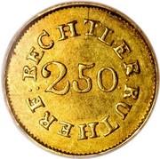 USA $2.50 18XX KM# 76.2 Christopher Bechtler (Georgia) BECHLER . RUTHERF : 2.50 coin reverse