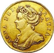 UK 2 Guineas Anne 1711 KM# 531 ANNA DEI GRATIA ∙ coin obverse