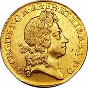 UK 2 Guineas George I 1720 KM# 554 GEORGIVS ∙ D ∙ G ∙ M ∙ BR ∙ FR ∙ ET ∙ HIB ∙ REX ∙ F ∙ D ∙ coin obverse