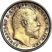 UK 2 Pence Edward VII 1902 Prooflike KM# 796 EDWARDVS VII D:G: BRITT: OMN: REX REGINA∙F:D: IND: IMP: DES coin obverse