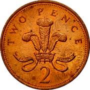 UK 2 Pence Elizabeth II 1998 KM# 987a TWO PENCE ICH DIEN 2 coin reverse