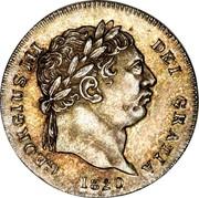 UK 2 Pence George III 1820 KM# 669 GEORGIUS III DEI GRATIA coin obverse