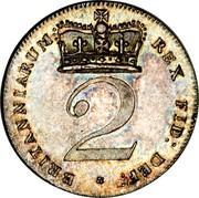 UK 2 Pence George III 1820 KM# 669 BRITANNIARUM REX FID: DEF: * 2 coin reverse