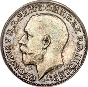 UK 2 Pence George V 1911 Prooflike KM# 812 GEORGIVS V D.G:BRITT: OMN: REX F.D.IND:IMP: B.M. coin obverse