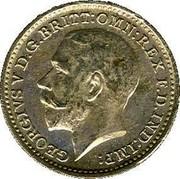 UK 2 Pence George V 1922 Prooflike KM# 812a GEORGIVS V D.G:BRITT: OMN: REX F.D.IND:IMP: B.M. coin obverse