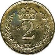 UK 2 Pence George V 1922 Prooflike KM# 812a *YE 2 AR* coin reverse