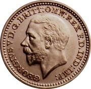 UK 2 Pence George V 1935 Prooflike KM# 840 GEORGIVS V D.G: BRITT: OMN: REX F.D. IND:IMP: B.M. coin obverse