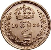 UK 2 Pence George V 1935 Prooflike KM# 840 *YE 2 AR* coin reverse