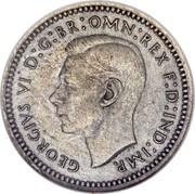 UK 2 Pence George VI 1937 Prooflike KM# 847 GEORGIVS VI D:G:BR:OMN:REX F:D:IND:IMP. HP coin obverse