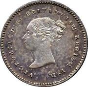 UK 2 Pence Victoria 1870 Prooflike KM# 729 VICTORIA D:G: BRITANNIAR: REGINA F:D: coin obverse