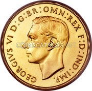 UK 2 Pounds 1937 Proof KM# 860 British Royal Mint Sovereign Coins coin obverse