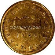 USA $20 Twenty Dollars 1849 KM# 107 Mormon Issues G. S. L. C. P. C. TWENTY. DOLLARS coin reverse