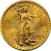 USA Twenty Dollars St. Gaudens Double Eagle 1915 KM# 131 LIBERTY DATE coin obverse