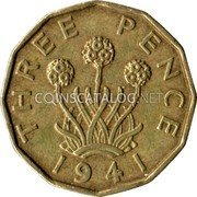 1938 to 1941 GREAT BRITAIN THREEPENCE SILVER COIN  Your choice of 1 from list