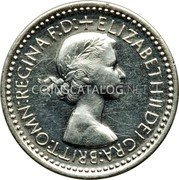 UK 3 Pence 1953 Prooflike KM# 887 Pre-Decimal coinage coin obverse