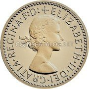 UK 3 Pence 2002 British Royal Mint Prooflike KM# 901a Pre-Decimal coinage coin obverse
