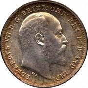 UK 3 Pence Edward VII 1903 KM# 797.1 EDWARDVS VII D:G: BRITT:OMN:REX F:D: IND: IMP: DES coin obverse