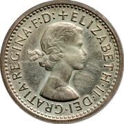 UK 3 Pence Elizabeth II 1970 British Royal Mint Prooflike KM# 901 + ELIZABETH∙II∙DEI∙GRATIA∙REGINA∙F:D: coin obverse