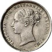 UK 3 Pence Victoria 1887 KM# 730 VICTORIA D:G: BRITANNIAR: REGINA F:D: coin obverse