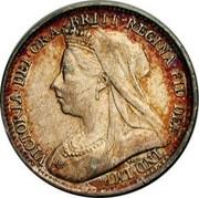 UK 3 Pence Victoria 1894 Prooflike KM# 777 VICTORIA∙DEI∙GRA ∙ BRITT∙REGINA∙FID∙DEF ∙ IND∙IMP∙ T∙B∙ coin obverse