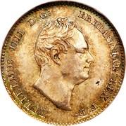 UK 3 Pence William IV 1834 Prooflike KM# 710 GULIELMUS IIII D:G: BRITANNIAR: REX F:D: coin obverse
