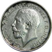 UK 4 Pence Groat 1922 Prooflike KM# 814a GEORGIVS V D.G:BRITT: OMN: REX F.D.IND:IMP: B.M. coin obverse