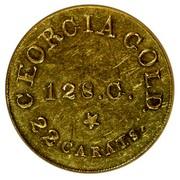 USA 5 Dollars 18XX KM# 78.1 Christopher Bechtler (Georgia) GEORGIA GOLD. 22 CARATS. 128. G. * coin reverse